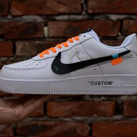 NIKE OFF WHITE Force 1 Complex Con AF1 Silver hook shoes-1
