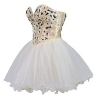 Faironly Zxs1 Mini Short Crystal Prom Cocktail Dress