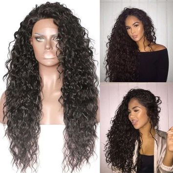 Exotic Babe- Kinky Curly Heat Resistant Front Lace Synthetic Wig