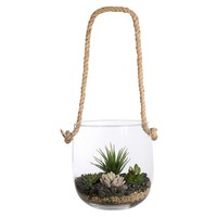 Home Essentials Hanging Terrarium Hurricane Decor