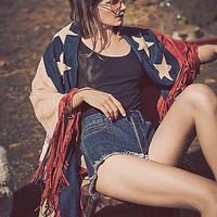Free People Born Free Faux Suede Shawl