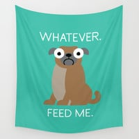 The Pugly Truth Wall Tapestry by David Olenick