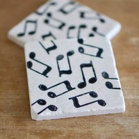 Music Marble Coasters