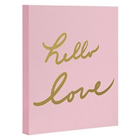 Lisa Argyropoulos hello love pink Art Canvas