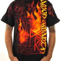 Amon Amarth T-Shirt - Runes Of Fire All Over Print