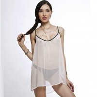 Lola Haze Fresca White Silk Slip - Babydolls from Glamorous Amorous UK