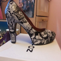 Custom Made Marilyn Monroe Shoes by oneofakindbyleah on Etsy