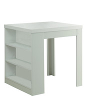 """White Hollow-Core 32""""X 36"""" Counter Height Table"""