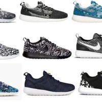 Nike Roshe Run One Print Fly Knit Winter Women's Training Shoes New in Box