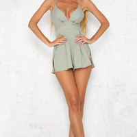 Fortress Playsuit Olive