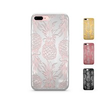 Chrome Shiny TPU iPhone Case Cover - Hawaiian Pineapple
