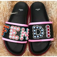 Fendi Leather Slides Slipper-2