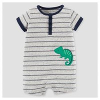Baby Boys' Lizard Romper Grey/Black Stripe - Just One You™ Made by Carter's® : Target