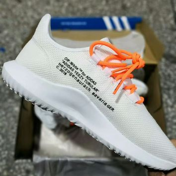 ADIDAS TUBULAR SHADOW x OFF-WHITE Co-branded comfortable breathable casual shoes F-A50-XYZ white