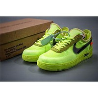 OW x Air Force 1 Green Sneaker