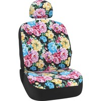 Bell Automotive Products Black Floral Low-Back Bucket Seat Cover   Product Details   Pep Boys