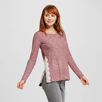 Women's Side-Slit Rib LS Knit Top - Xhilaration™ (Juniors')