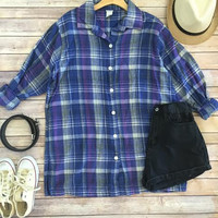 A Day in the Fields Oversized Flannel