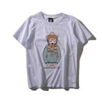 Cartoons Animal Star Sweater Dogs Round-neck Cotton Short Sleeve Tops T-shirts [6544702851]