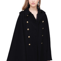 Cloak with Gilded Buttons - Coats and Jackets - Ready to wear - Woman | Roberto Cavalli United States