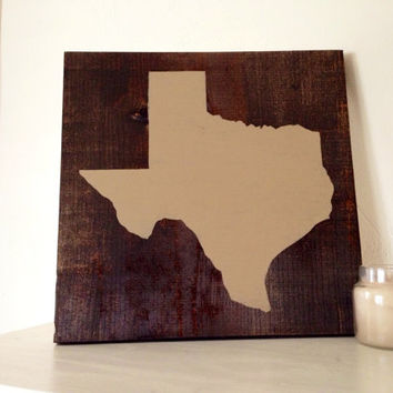 State Wood Sign, Stained and Hand Painted