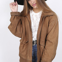 Bombers Woman : Sutton Suede Bomber