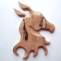Horse head wall Hanging, Spalted Beech. Wood horse head, wood wall hanging, horse wall hanging, wood carving,horse carving,horse head plaque