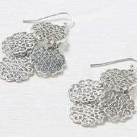 AEO Women's Honeycomb Earrings (Silver)