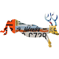 Nebraska License Plate Deer