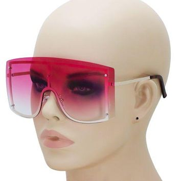 OVERSIZED VINTAGE RETRO Huge Big MASK SHIELD Half Face Owen Style SUNGLASSES