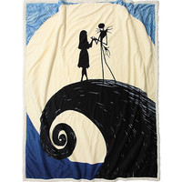 The Nightmare Before Christmas Spiral Hill Throw