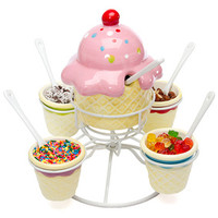Ice Cream Social Candy Topping Spinning Server