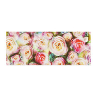 """Dawid Roc """"Pastel Rose Romantic Gifts"""" Green Photography Bed Runner"""