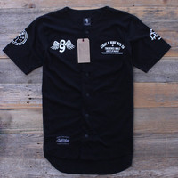 Kustom Life Black Cotton Baseball Jersey