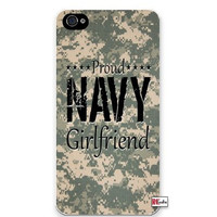 Premium Direct Print Proud Navy Girlfriend United States USA Camo iphone 6 Quality Hard Snap On Case for iphone 6/Apple iphone 6 - AT&T Sprint Verizon - White Case PLUS Bonus RCGRafix The Best Iphone Business Productivity Apps Review Guide