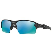 Oakley Flak 2.0 XL Sunglasses Matte Black Polarized Prizm Deep Water OO9188-58