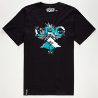 Lrg Floral Geometric Mens T-Shirt Black  In Sizes