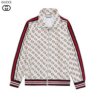 GUCCI new full-body pattern LOGO printed zipper jacket-3