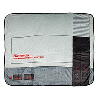 "NES Classic Nintendo Entertainment System Plush Throw Blanket 48"" x 60"" (122cm x 152cm)"