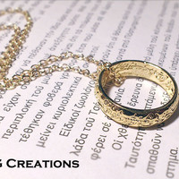 LOTR Lord of the Rings ring Necklace - The One Ring Jewelry - Inspired by Lord of the Rings and The Hobbit - LOTR Jewelry - My Precious Ring