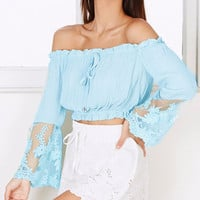 Jazlyn Off The Shoulder Crop Top