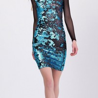 Bianca Blue Sequin Dress