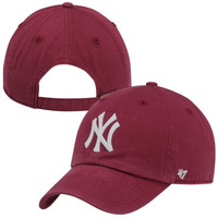 47 Brand New York Yankees Cleanup Adjustable Hat - Red