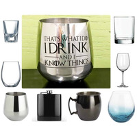 Choose your Glass with Game of Thrones Quotes, Sand Carved by Integrity Bottles