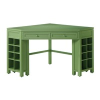 Martha Stewart Living Rhododendron Leaf Corner Craft Table-0795200600 - The Home Depot