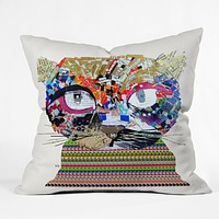 Brian Buckley Gooseberry Cat Throw Pillow