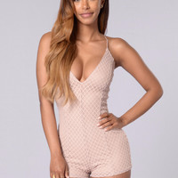 Woman You Love Romper - Taupe