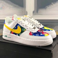 Nike Air Force 1 Low LV Louis Vuitton low-top all-match casual sneakers Shoes