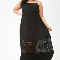 Plus Size Boho Me Crochet-Trim Maxi Dress