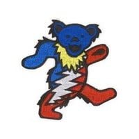 Grateful Dead - Lightening Dancing Bear - Embroidered Iron on Patch